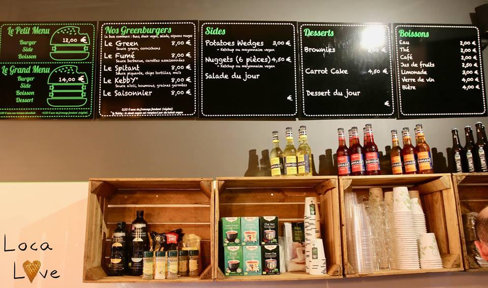 Greenburger menu